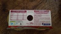 Compote pomme orange épices - Informations nutritionnelles - fr