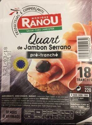 Quart de Jambon Serrano - Product - fr