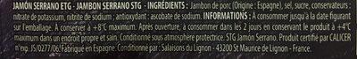 Quart de Jambon Serrano - Ingredients - fr