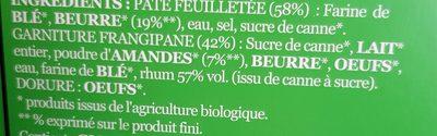 Galette des Rois Frangipane Pur Beurre - Ingredients