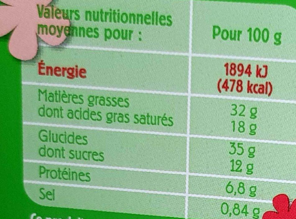 Galette des Rois Frangipane Pur Beurre - Informations nutritionnelles