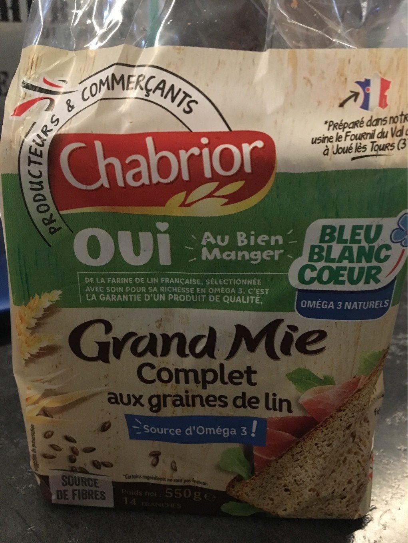 Grand mie complet aux graines de lin - Produit - fr