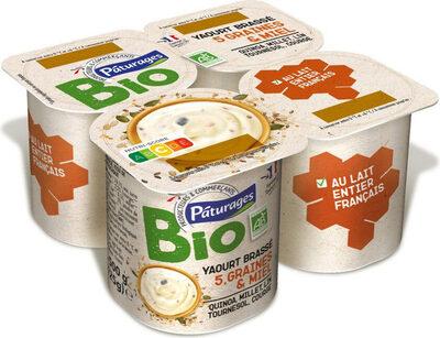 Yaourt brassé 5 graines & miel bio - Prodotto - fr