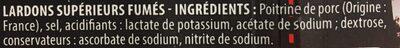 Lardons fumés sans antibiotiques - Ingredients - fr