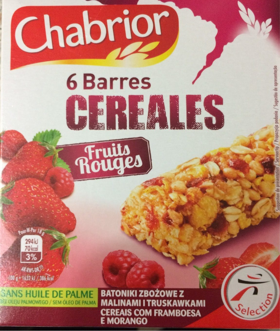 Chabrior 6 barres cereales - Product - fr