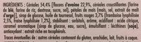 Chabrior 6 barres cereales - Ingrediënten - fr