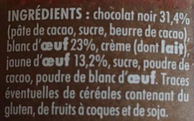 Mousse au chocolat noir - Ingredienti - fr