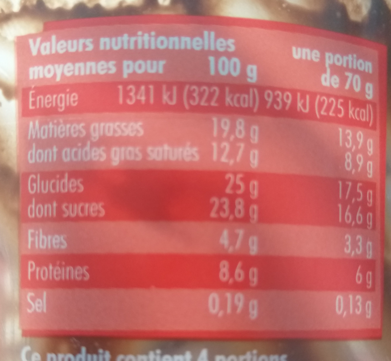 Mousse au chocolat noir - Informazioni nutrizionali - fr