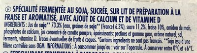 Soja sur lit de fraises - Ingredients