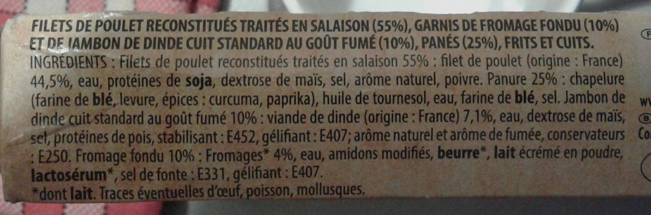 Escalope cordon bleu - Ingredients - fr