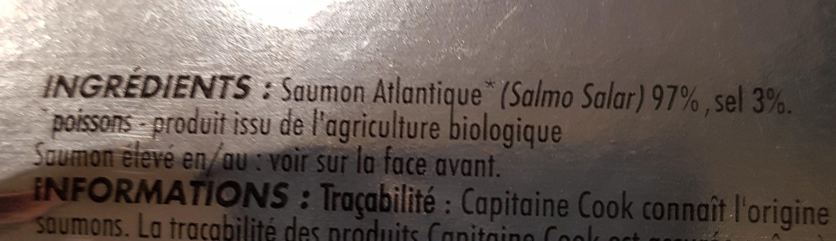 Saumon Atlantique Fumé - Ingrédients - fr