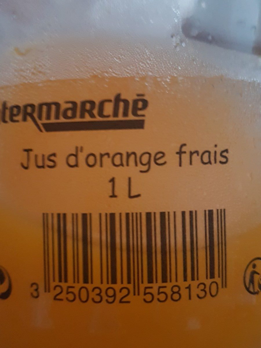 Jus d'orange frais 1L - Ingrédients