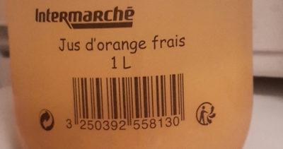 Jus d'orange frais 1L - Informations nutritionnelles