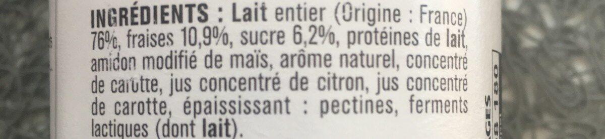Yaourt fraise - Ingrediënten - fr