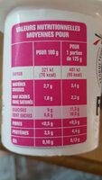Yaourt fraise - Voedingswaarden - fr