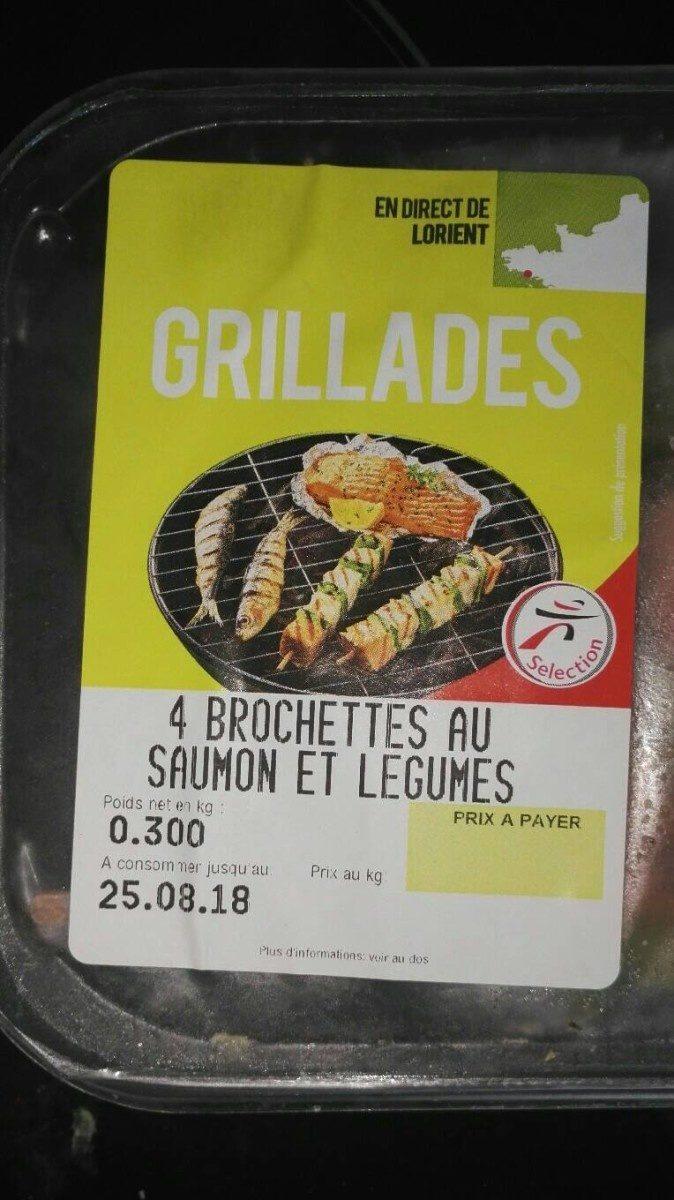 Brochette de saumon et legume - Produit