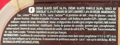 Glace façon Cappuccino - Ingrédients - fr