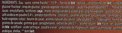 Adélie cappucino - Ingrédients
