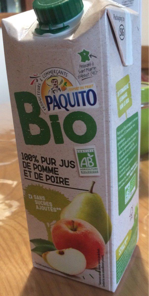 Jus pomme poire bio Paquito - Produit