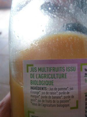 Jus multifruits - Ingredients