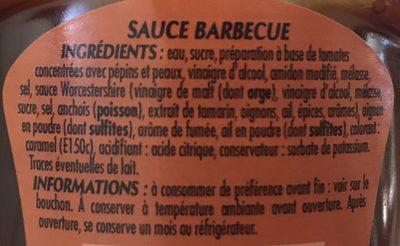 Sauce Barbecue - Ingrédients - fr