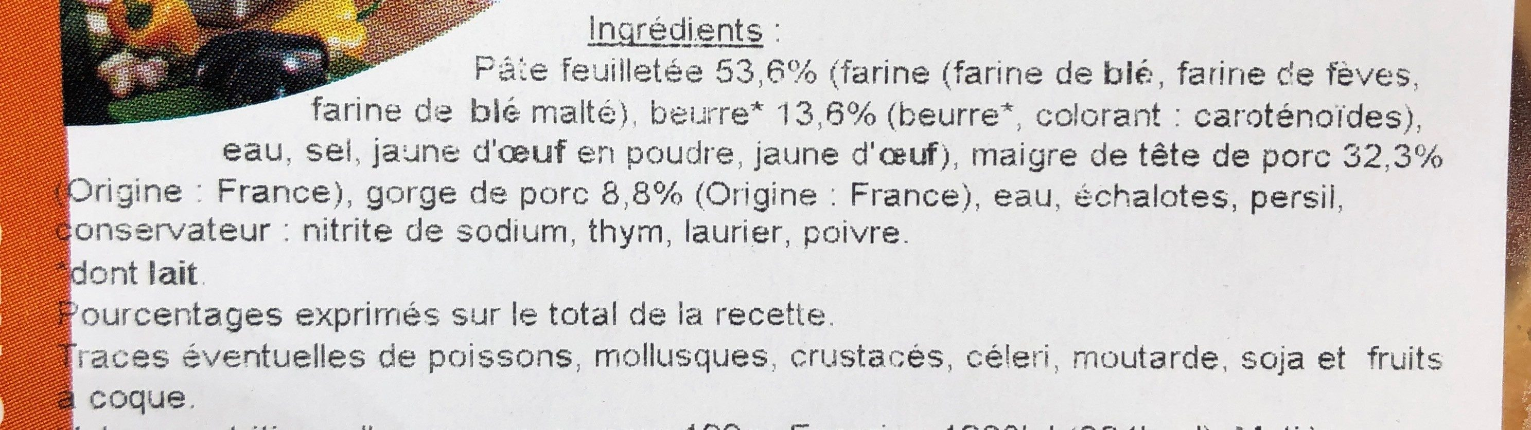 Friand à la viande - Ingredients - fr