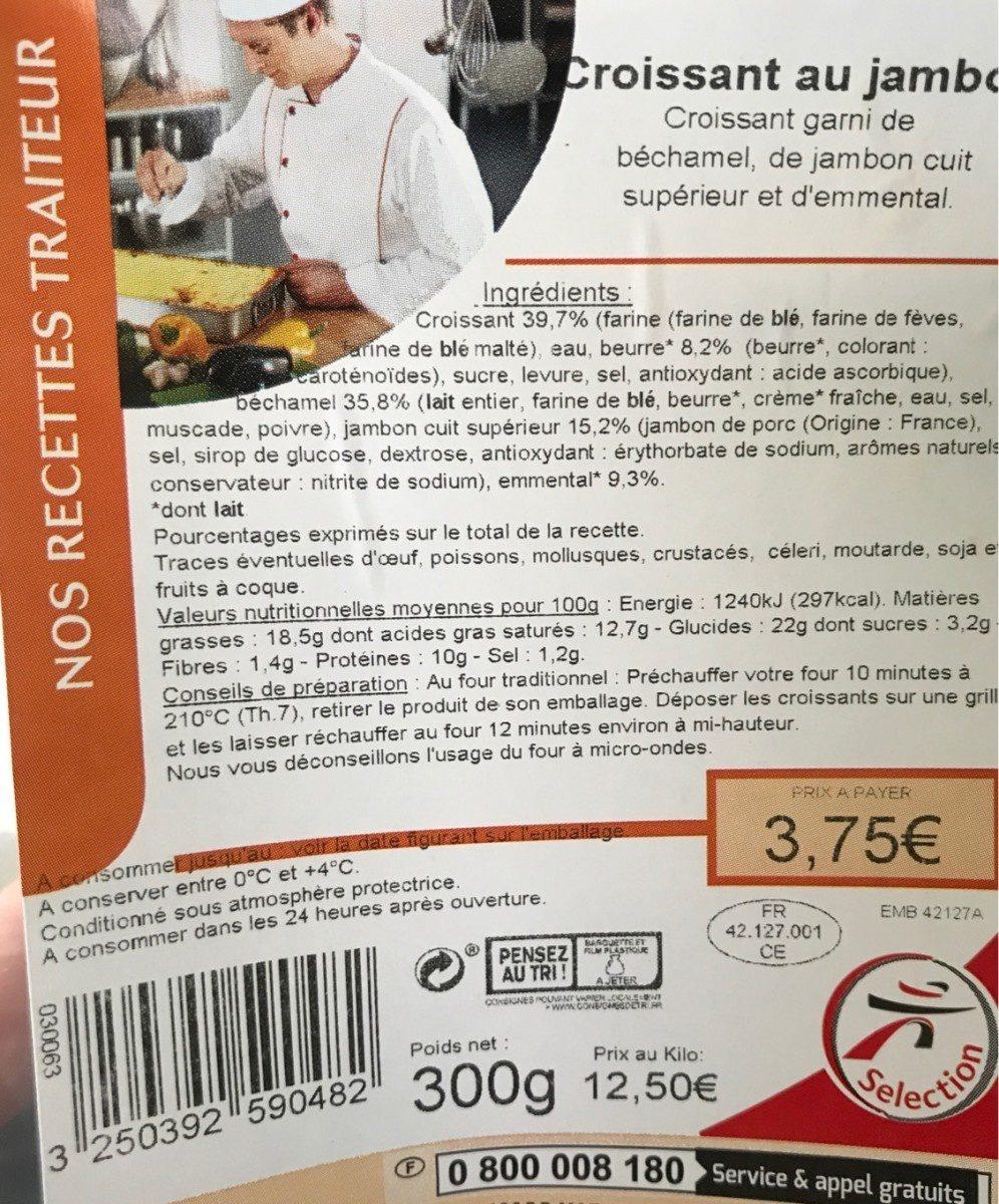 Croissant au jambon - Product - fr