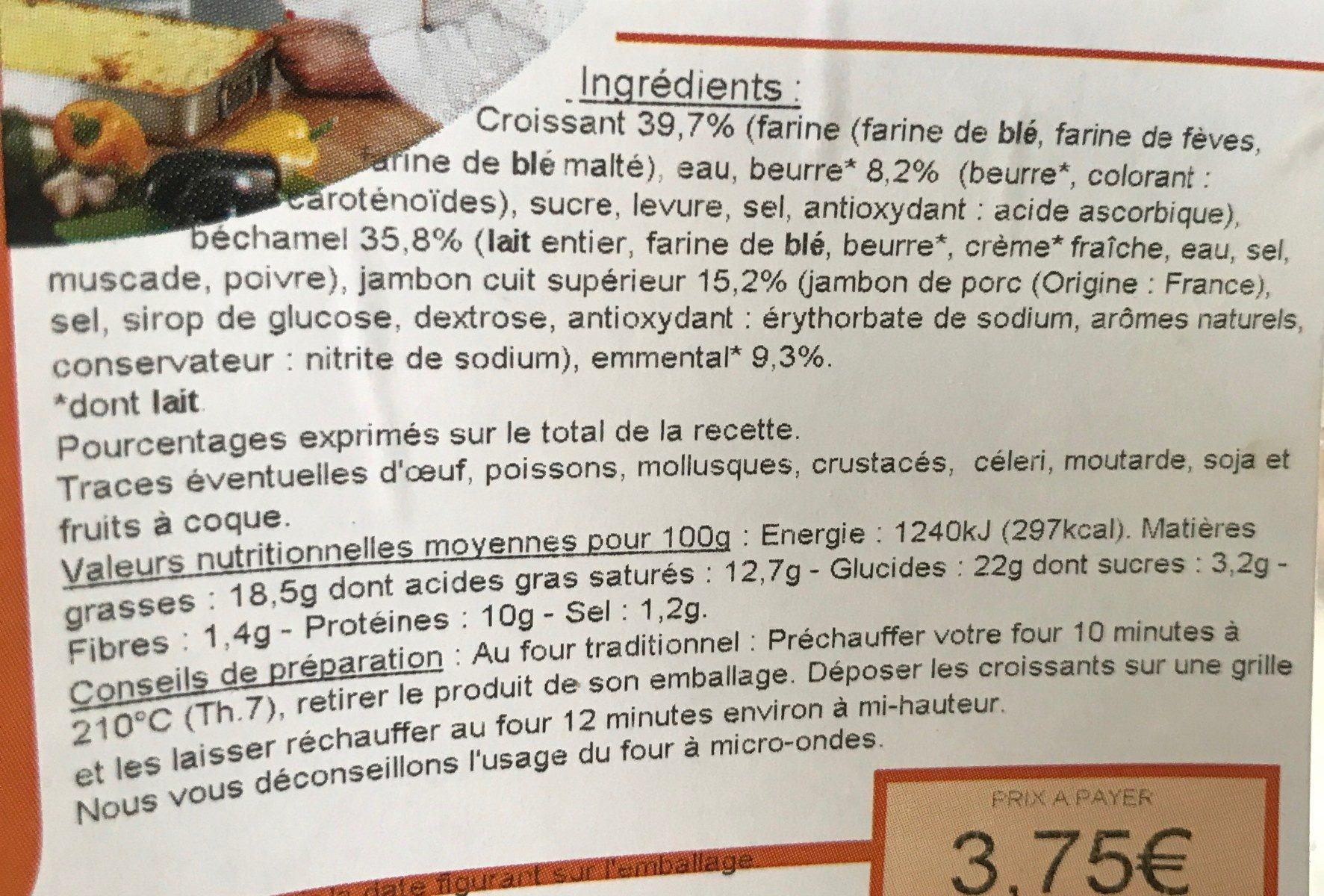Croissant au jambon - Ingredients - fr