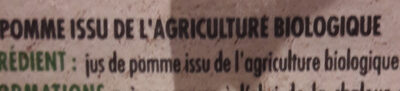 100% Pur Jus de Pomme - Ingredienti - fr