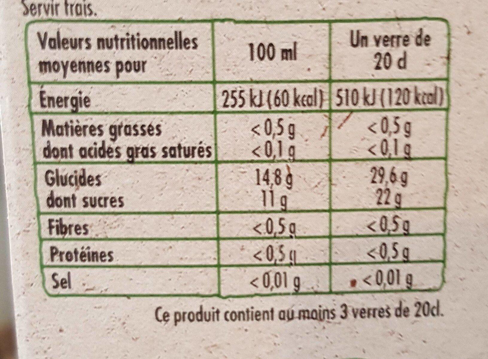 100% Pur Jus de Pomme - Valori nutrizionali - fr