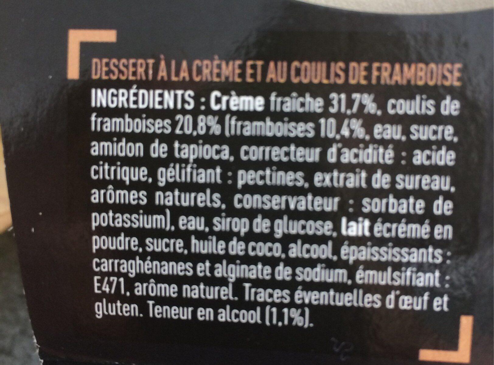 Panna cotta framboise délicat coulis de fruit - Ingredients - fr