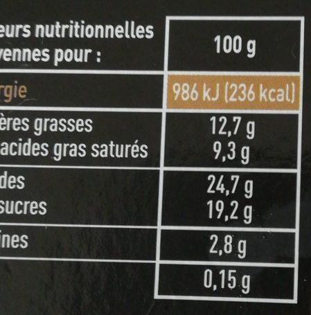 Panna cotta framboise délicat coulis de fruit - Nutrition facts - fr