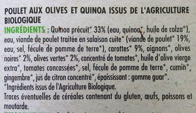 Poulet olives et quinoa - Ingrédients - fr