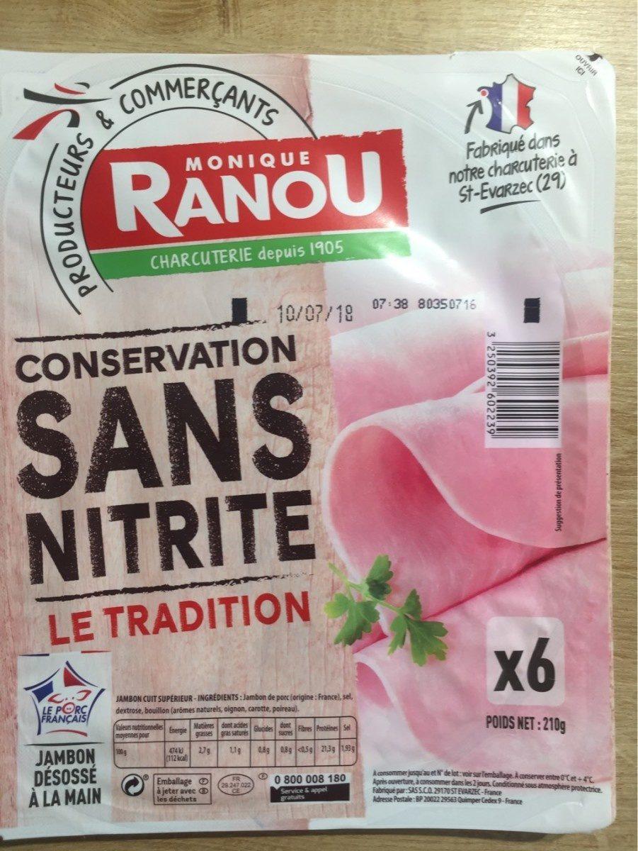 Jambon Le Tradition sans nitrite - Product - fr