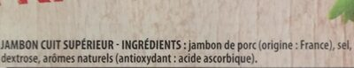 Jambon Le Tradition sans nitrite - Ingredients - fr