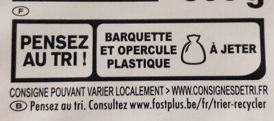 Lasagne à la bolognaise - Recycling instructions and/or packaging information - fr