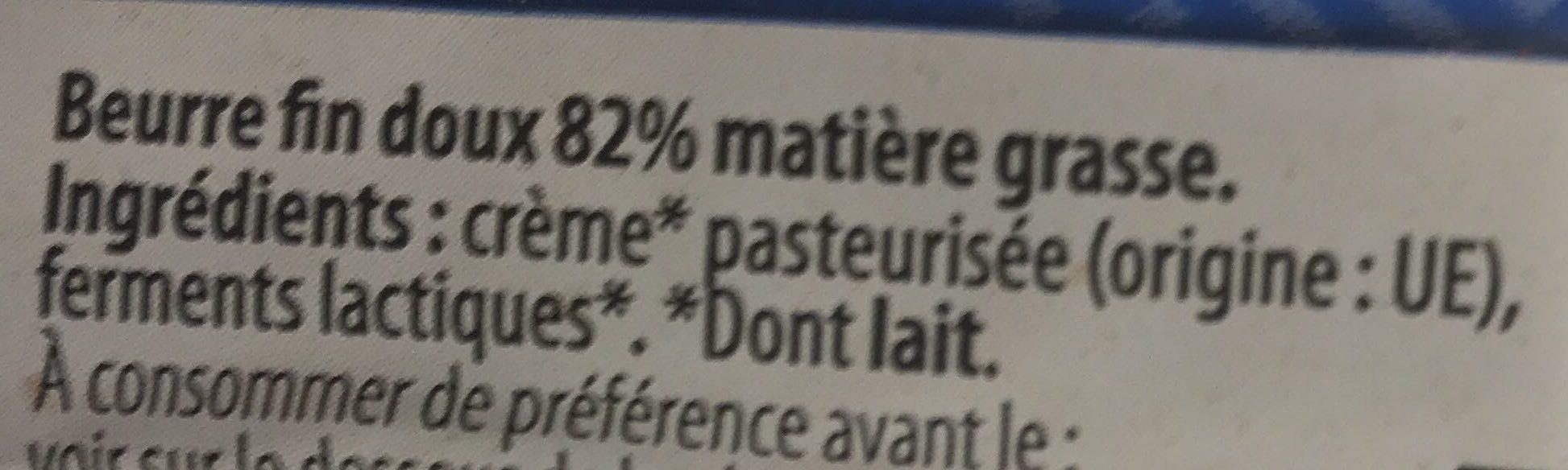 Beurre moulé - Ingredients - fr