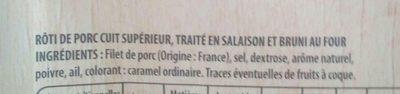 Rôti de porc - Ingredienti - fr