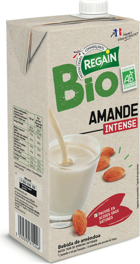 Boisson amande intense bio - Produit - fr