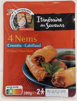 4 Nems Crevette - Cabillaud - Product