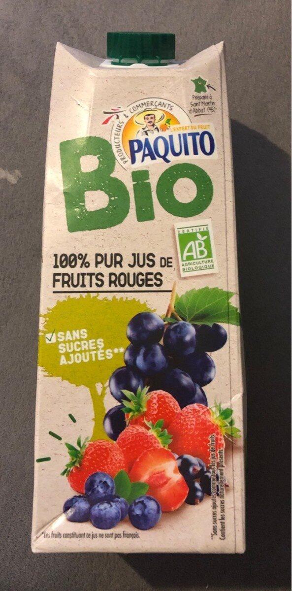 Producteurs & Commerçants BIO 100% Pur Jus de Fruits Rouges - Product