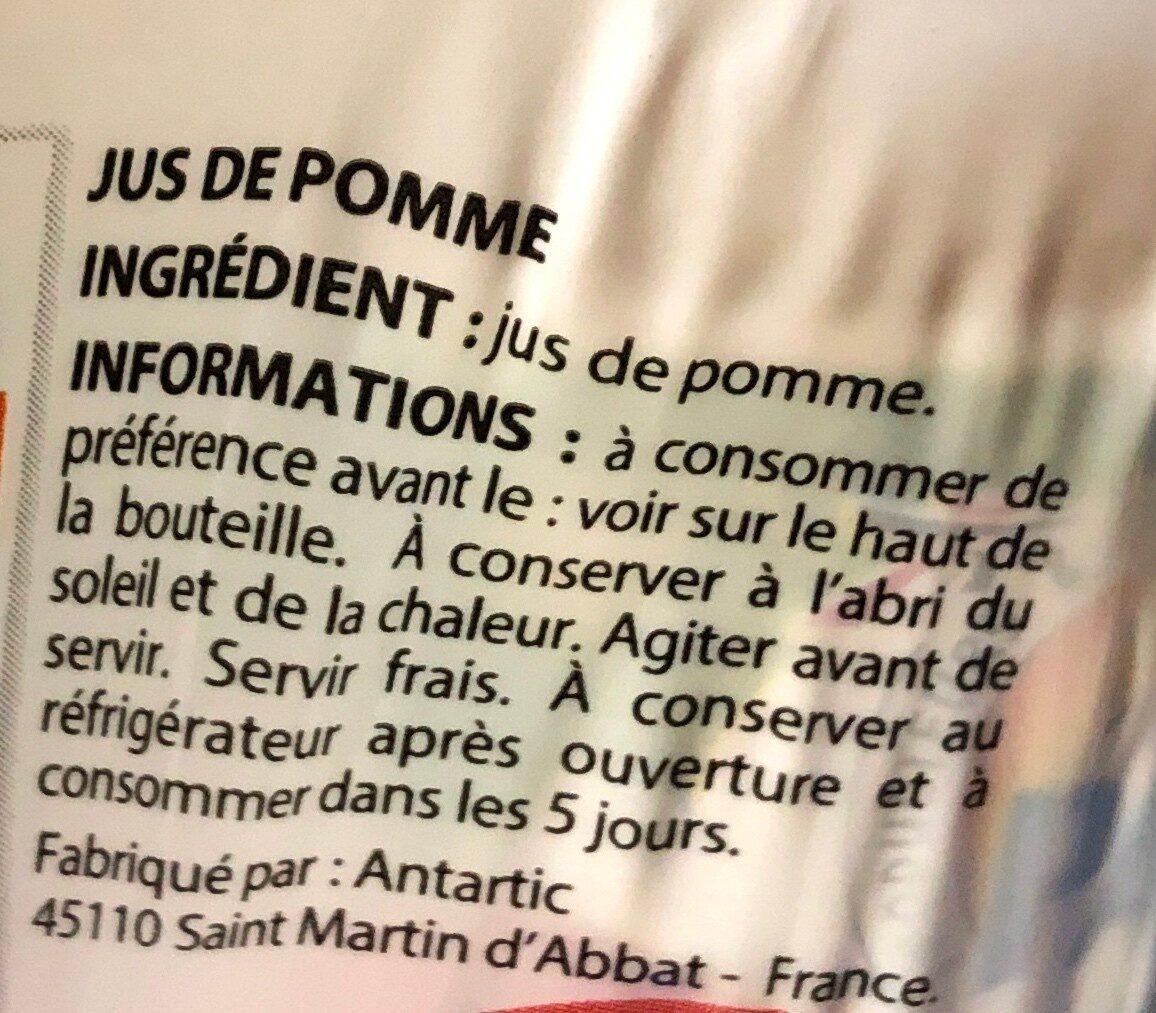 100% pur jus pomme - Ingrédients - fr