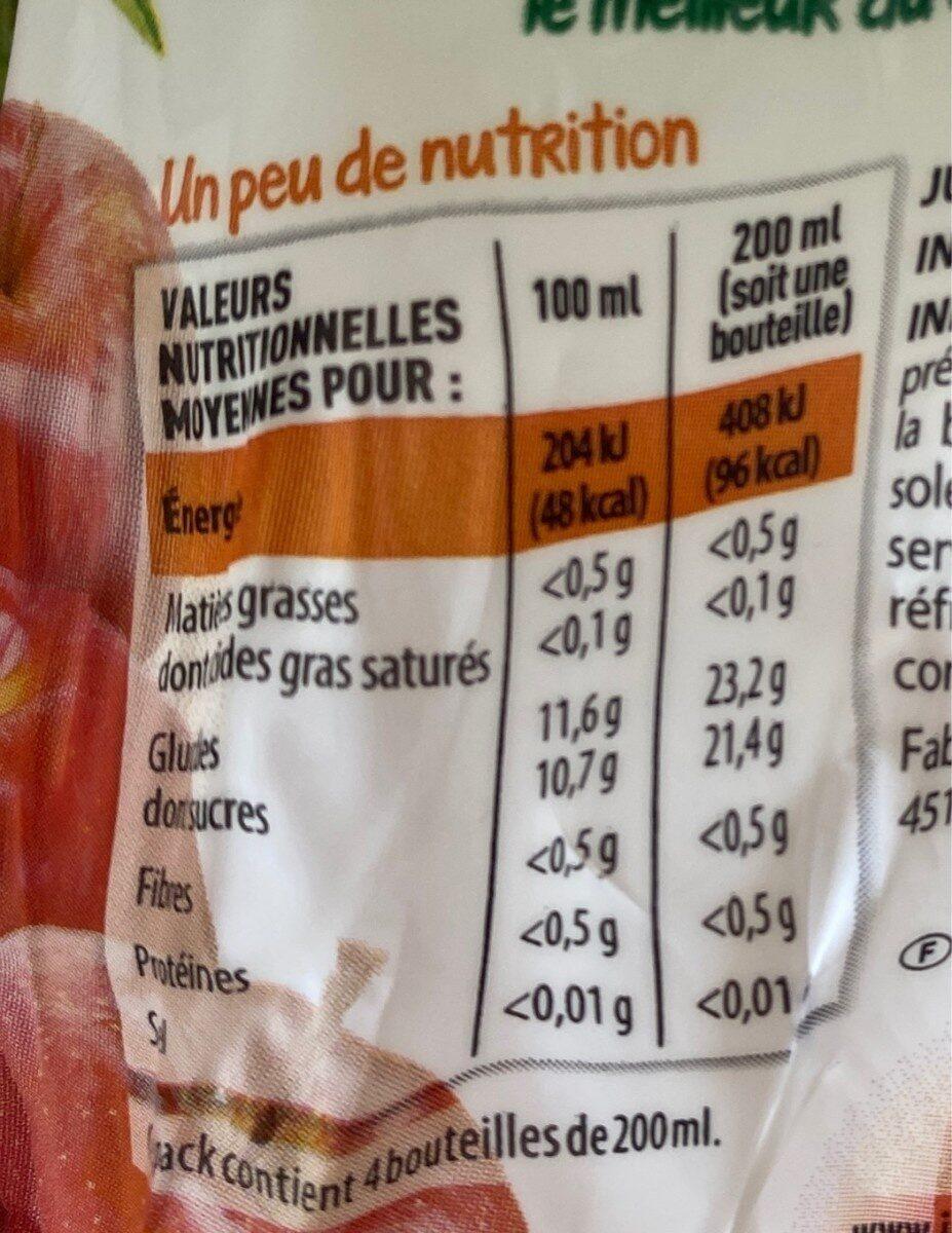 100% pur jus pomme - Informations nutritionnelles - fr