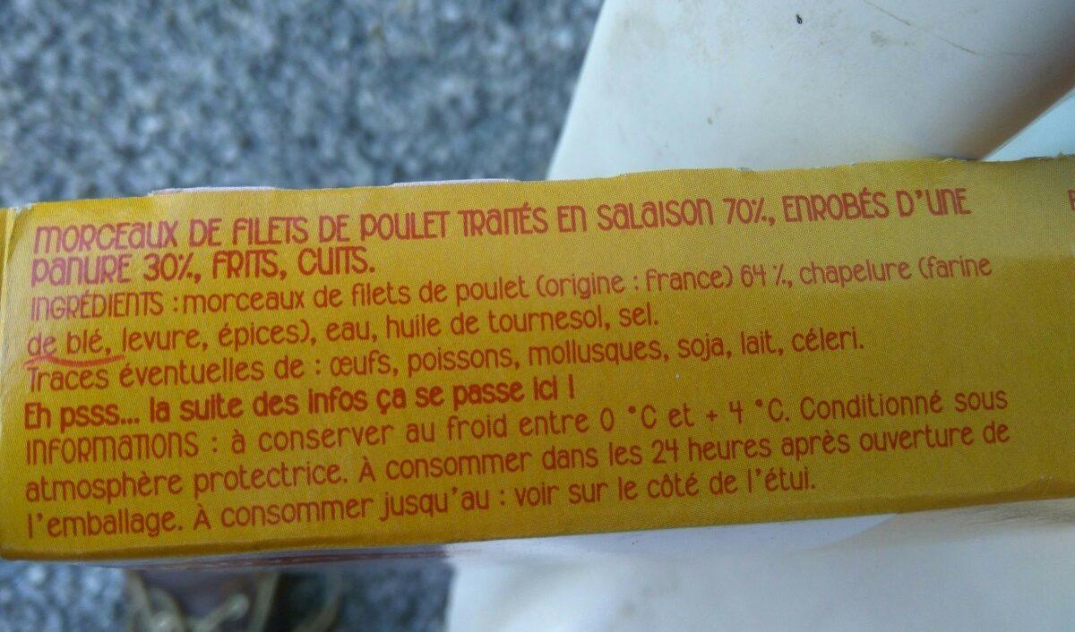 Bouchées de filets de poulet croustillantes - Ingrediënten