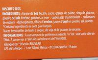 biscuits thé - Ingredients - fr
