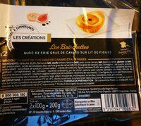 Les briochettes bloc de foie gras sur lit de figues - Product - fr