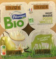 Yaourt brassé poire vanille BIO - Produit - fr