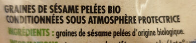 Graines de sésame bio - Ingrédients - fr