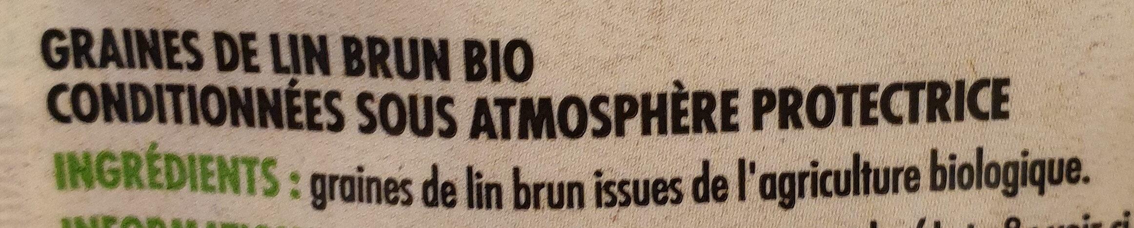Graines de lin brun bio - Ingrédients - fr