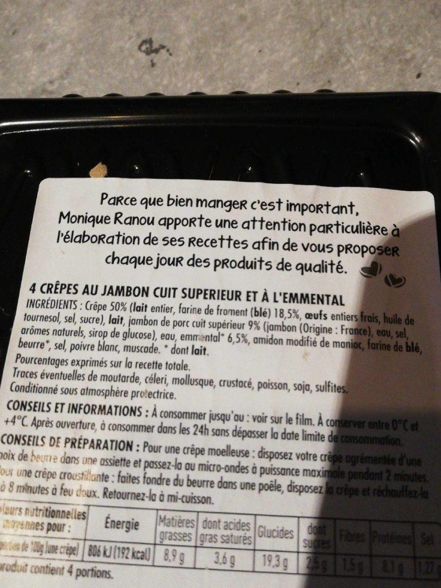 Crêpe jambon - Ingrédients - fr